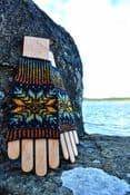 Up-Helly-Aa Wrist Warmers - Nicole Estelle Designs